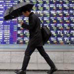 Asia stocks down on weak data, Wall Street dive