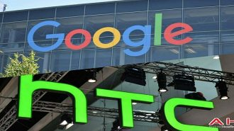 Google and HTC logo