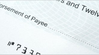 Cheque with blank Payee details