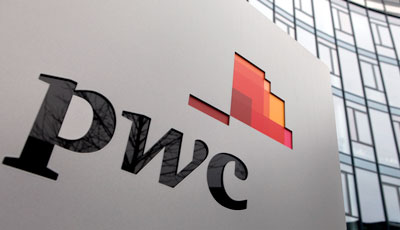 PWC logo on building