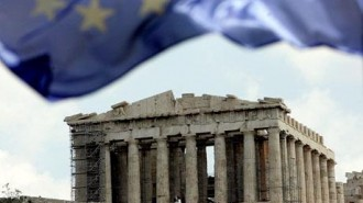 greece - EU flag & parthenon