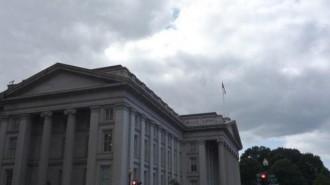 U.S. Treasury building is seen in Washington