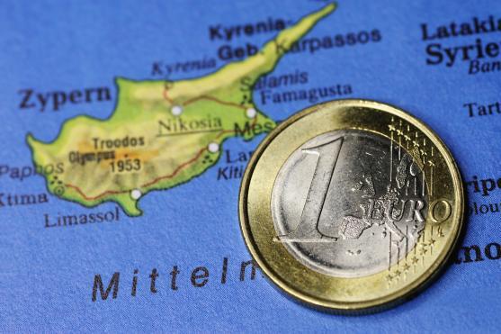 Cyprus and EU Flags - image