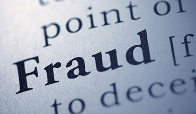fraud - image of the word