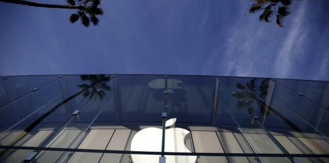 The Apple Store is seen in Santa Monica