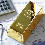 Gold sputters after hitting three-week high