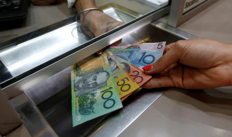 Australian Dollar Denominations Shown In A Photo Ilration At Currency Exchange Sydney