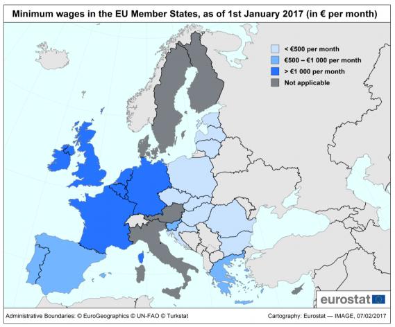 Minimum wages in EU